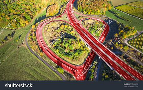 stock photo light red heart on a german highway love inside 512668876